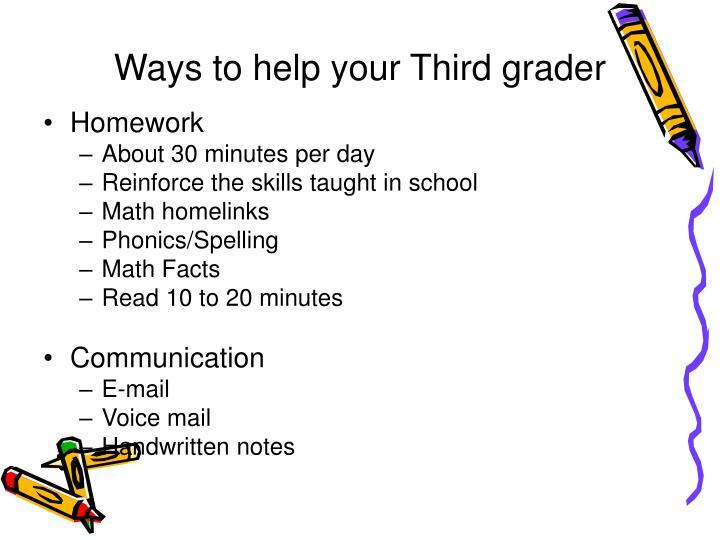 Ways to help your Third grader