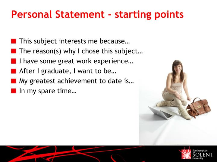 Personal Statement - starting points