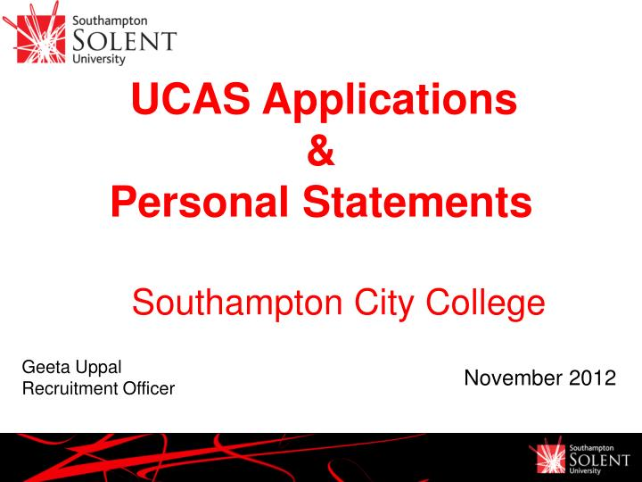 UCAS Applications