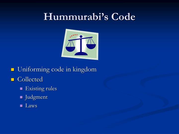 Hummurabi's Code