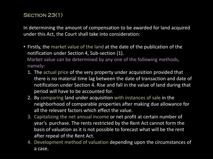 Section 23(1)