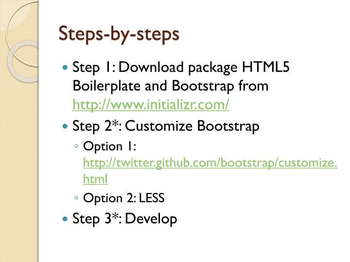 Steps-by-steps