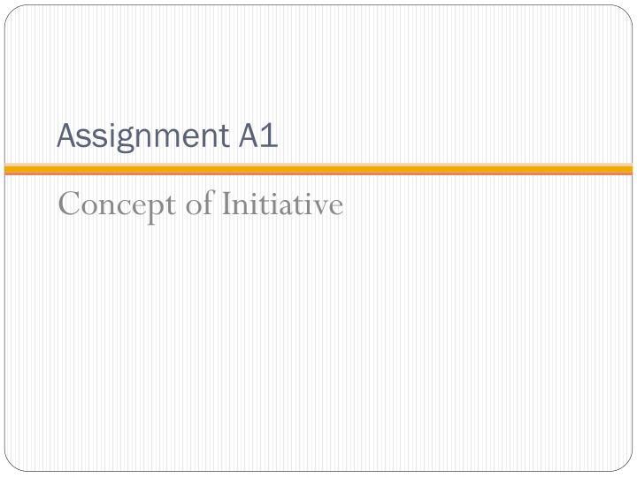 Assignment A1