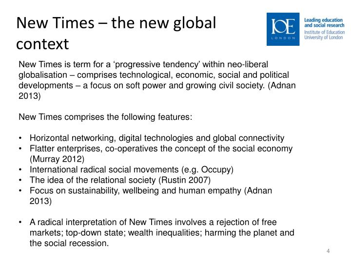 New Times – the new global context
