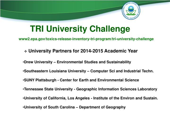 TRI University Challenge