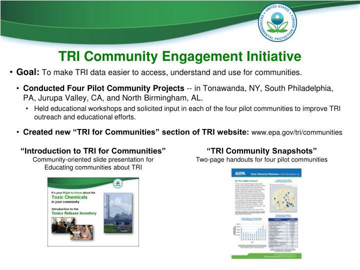 TRI Community Engagement Initiative