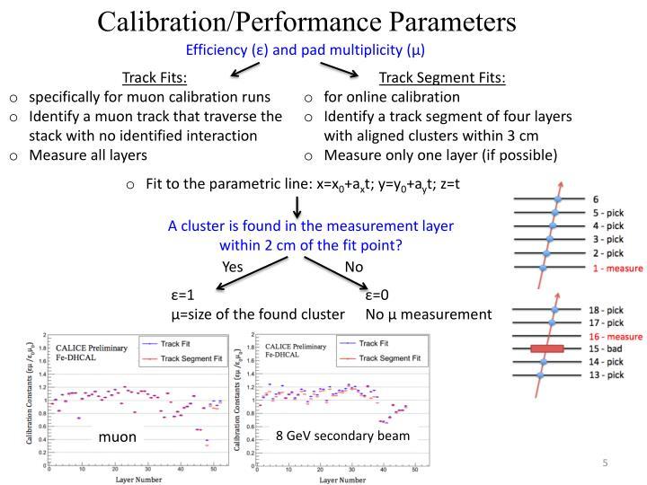 Calibration/Performance Parameters