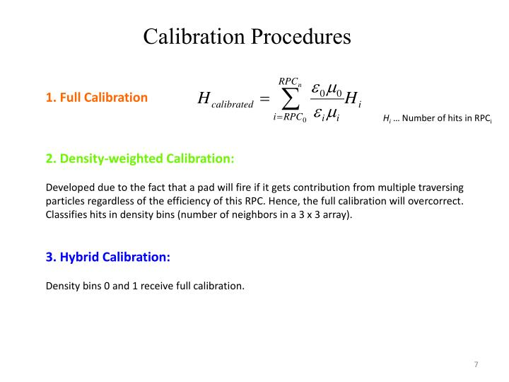 Calibration Procedures