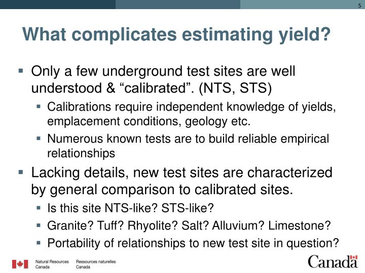 What complicates estimating yield?