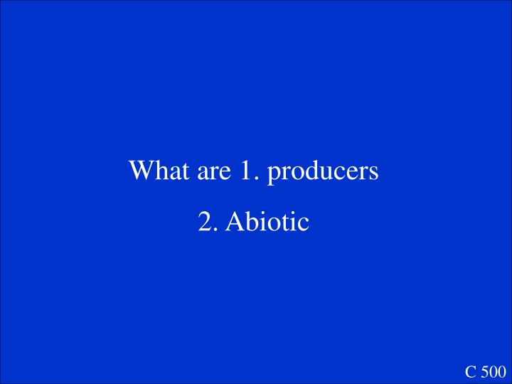 What are 1. producers