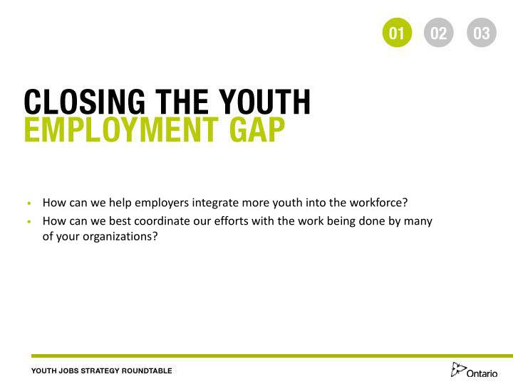 How can we help employers integrate more youth into the workforce?