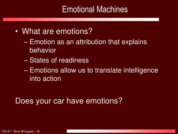 Emotional Machines