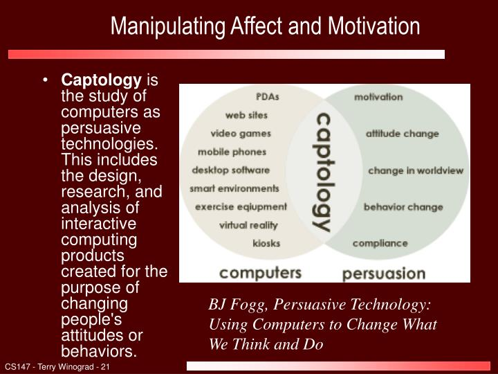 Manipulating Affect and Motivation