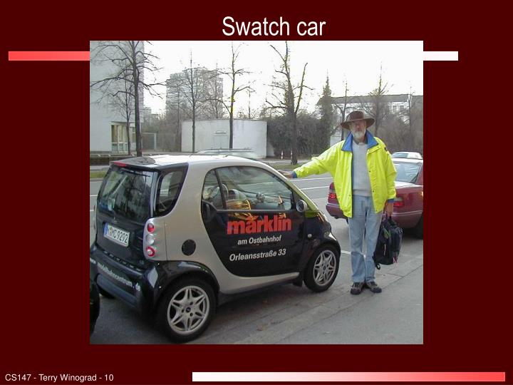 Swatch car