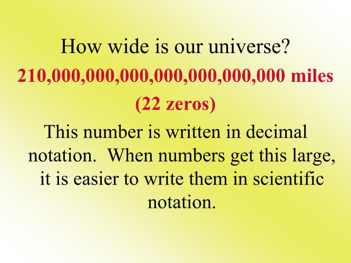 How wide is our universe