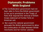 diplomatic problems with england