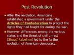 post revolution