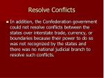 resolve conflicts
