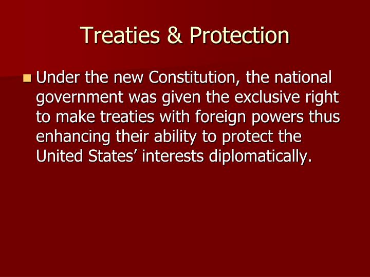 Treaties & Protection