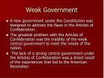 weak government