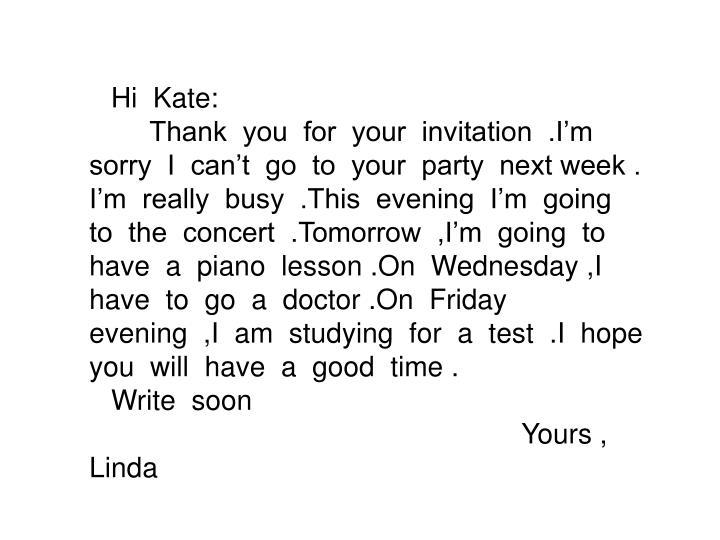 Hi  Kate: