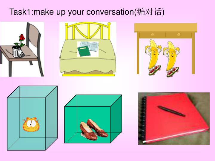 Task1:make up your conversation(