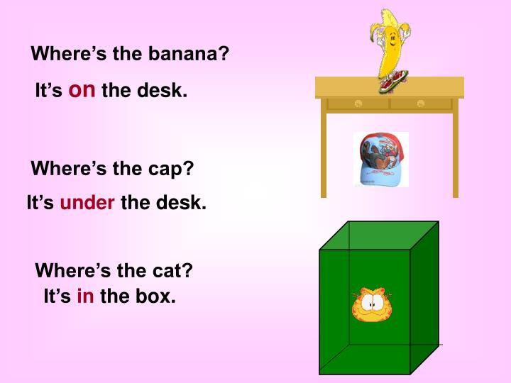 Where's the banana?