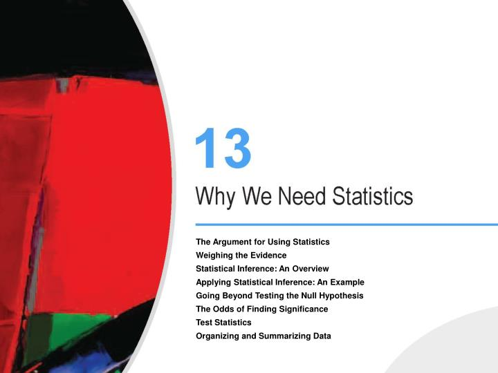the use of statistics as evidence