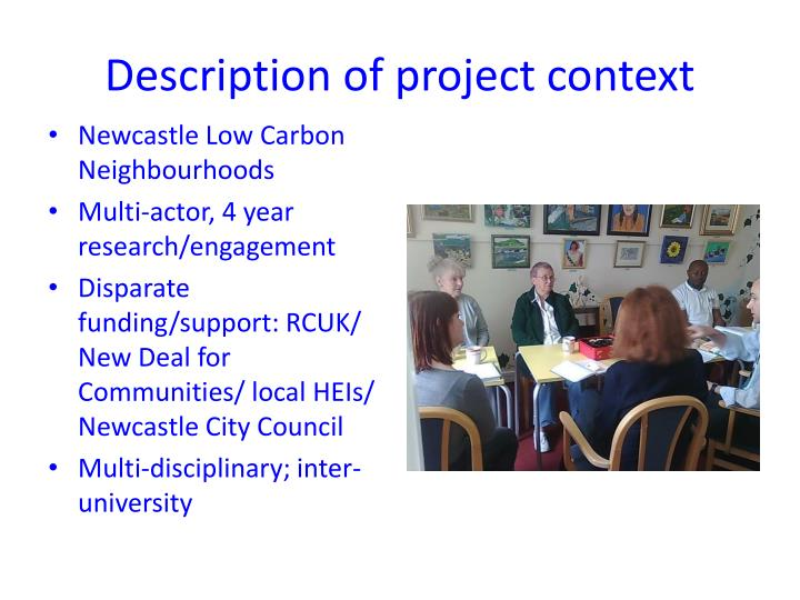 Description of project context
