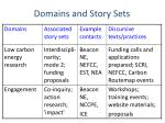 domains and story sets