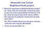 newcastle low carbon neighbourhoods project