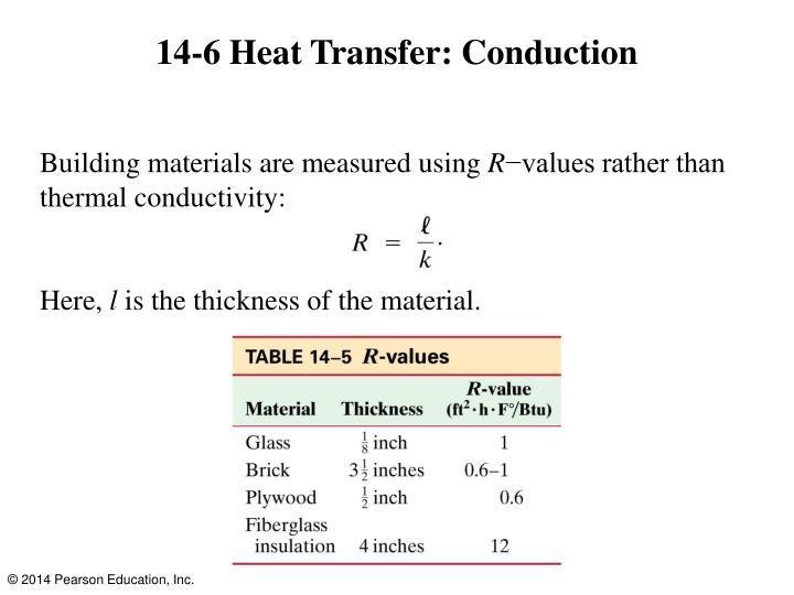 14-6 Heat Transfer: Conduction