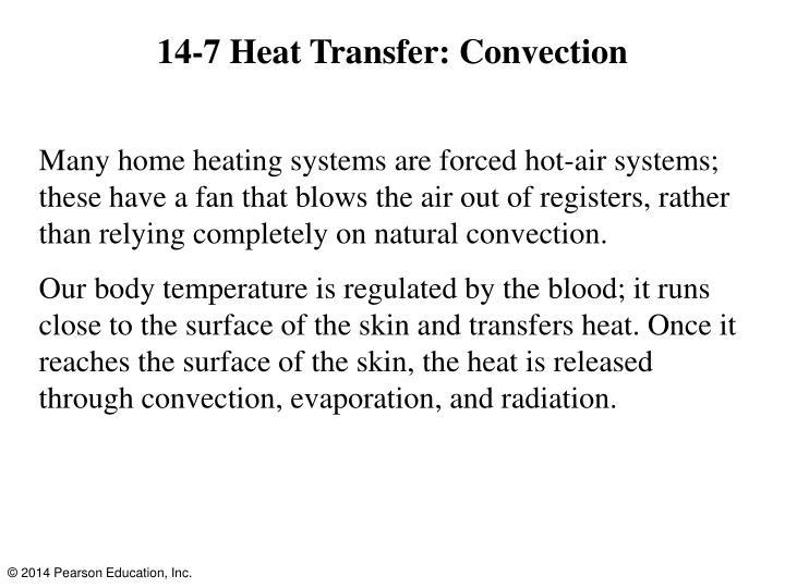 14-7 Heat Transfer: Convection