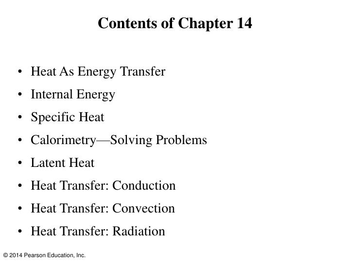 Contents of Chapter 14