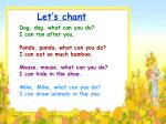 let s chant