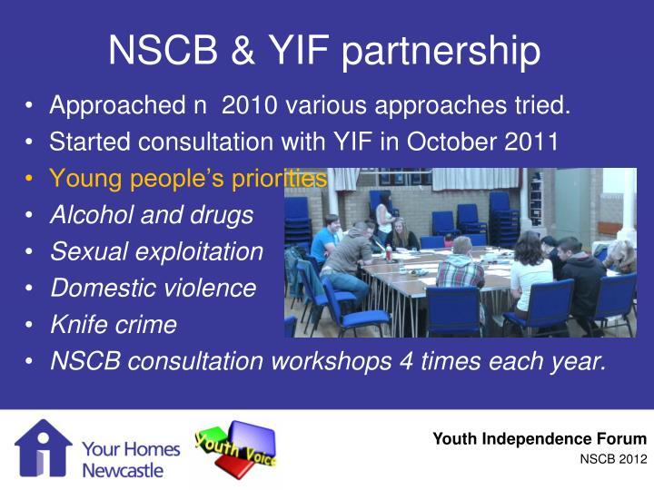 NSCB & YIF partnership