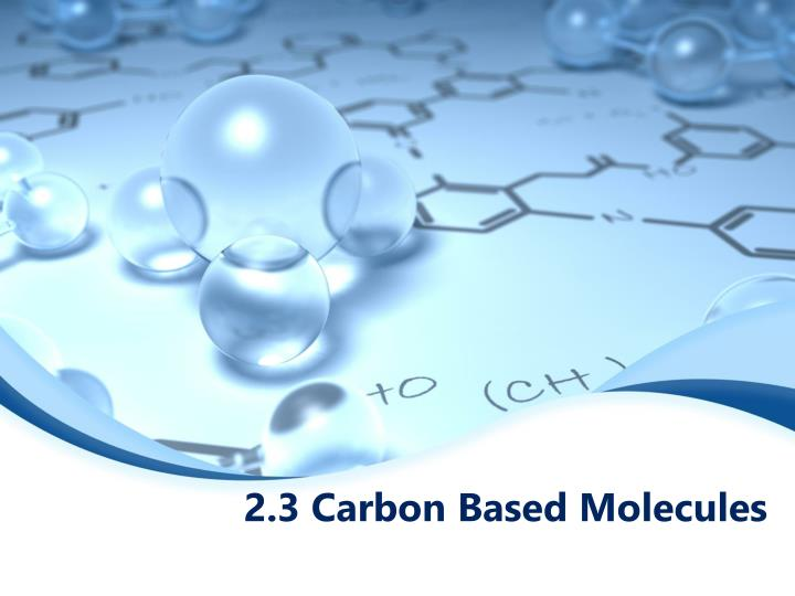 2 3 carbon based molecules