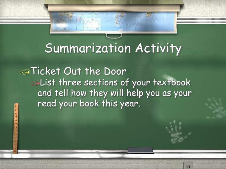 Summarization Activity