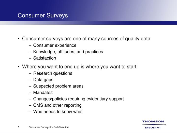 Consumer surveys