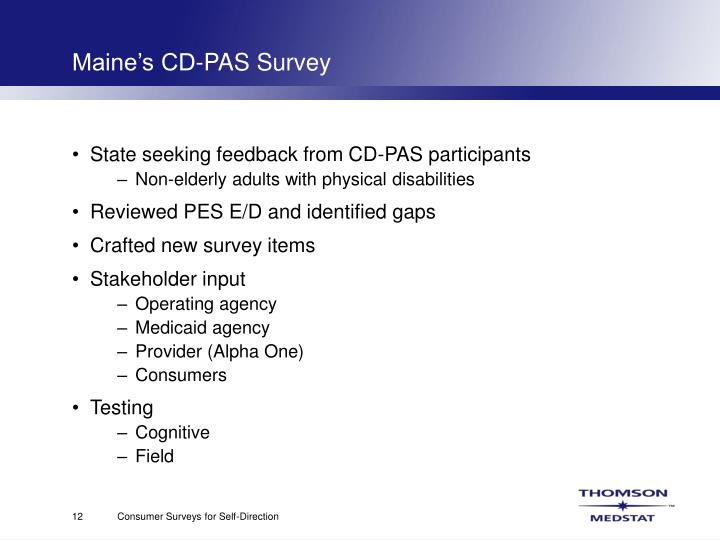 Maine's CD-PAS Survey