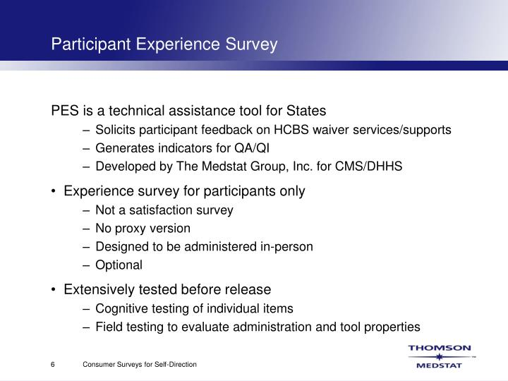 Participant Experience Survey