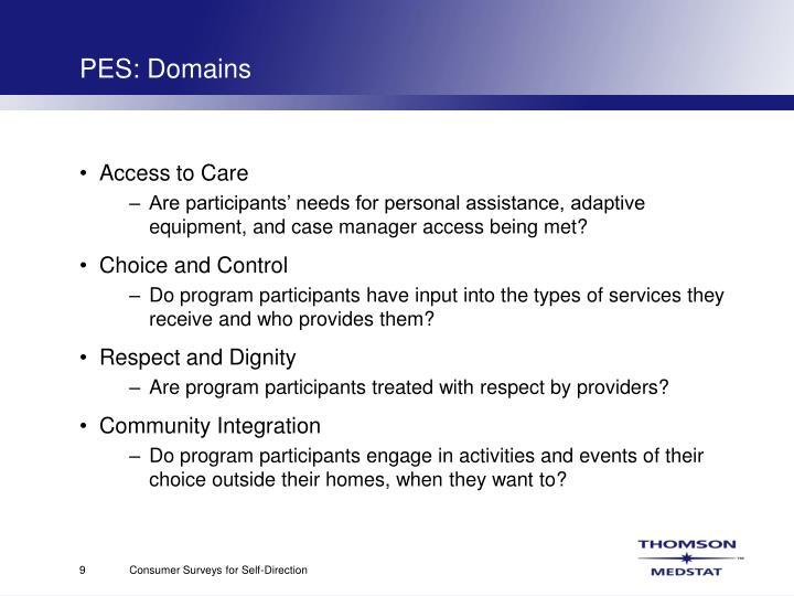 PES: Domains