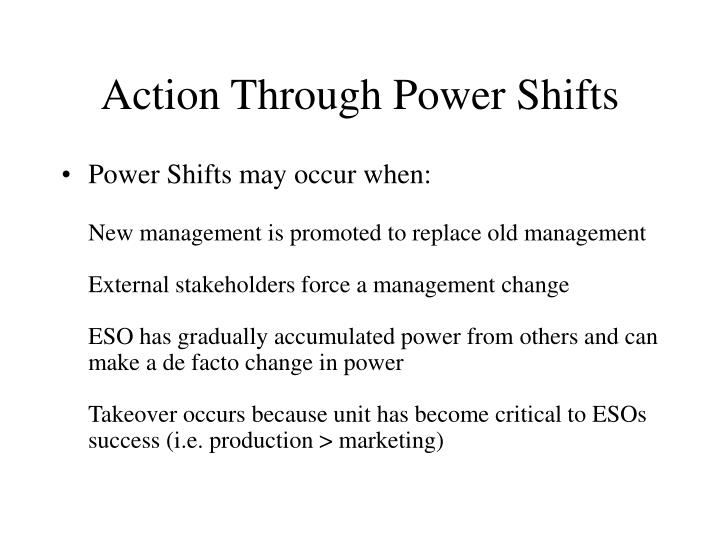 Action Through Power Shifts
