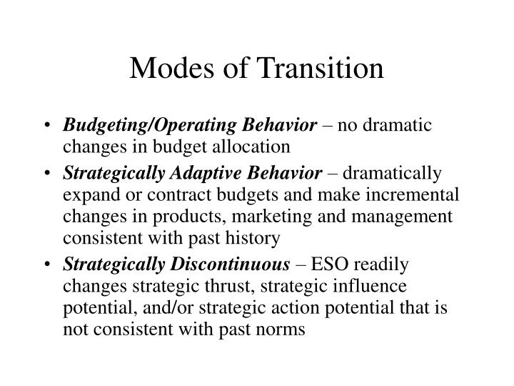 Modes of Transition