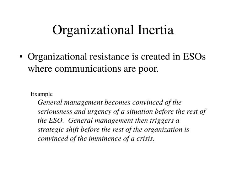 Organizational Inertia