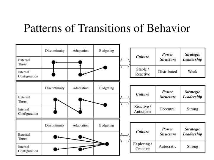 Patterns of Transitions of Behavior