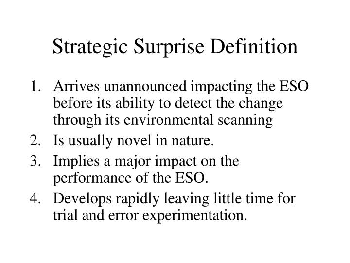 Strategic Surprise Definition