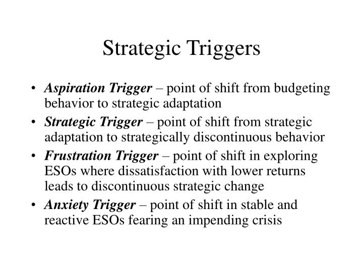 Strategic Triggers