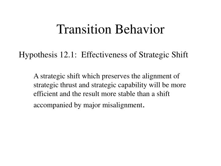 Transition Behavior