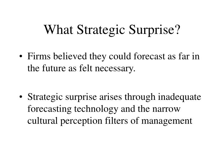What Strategic Surprise?